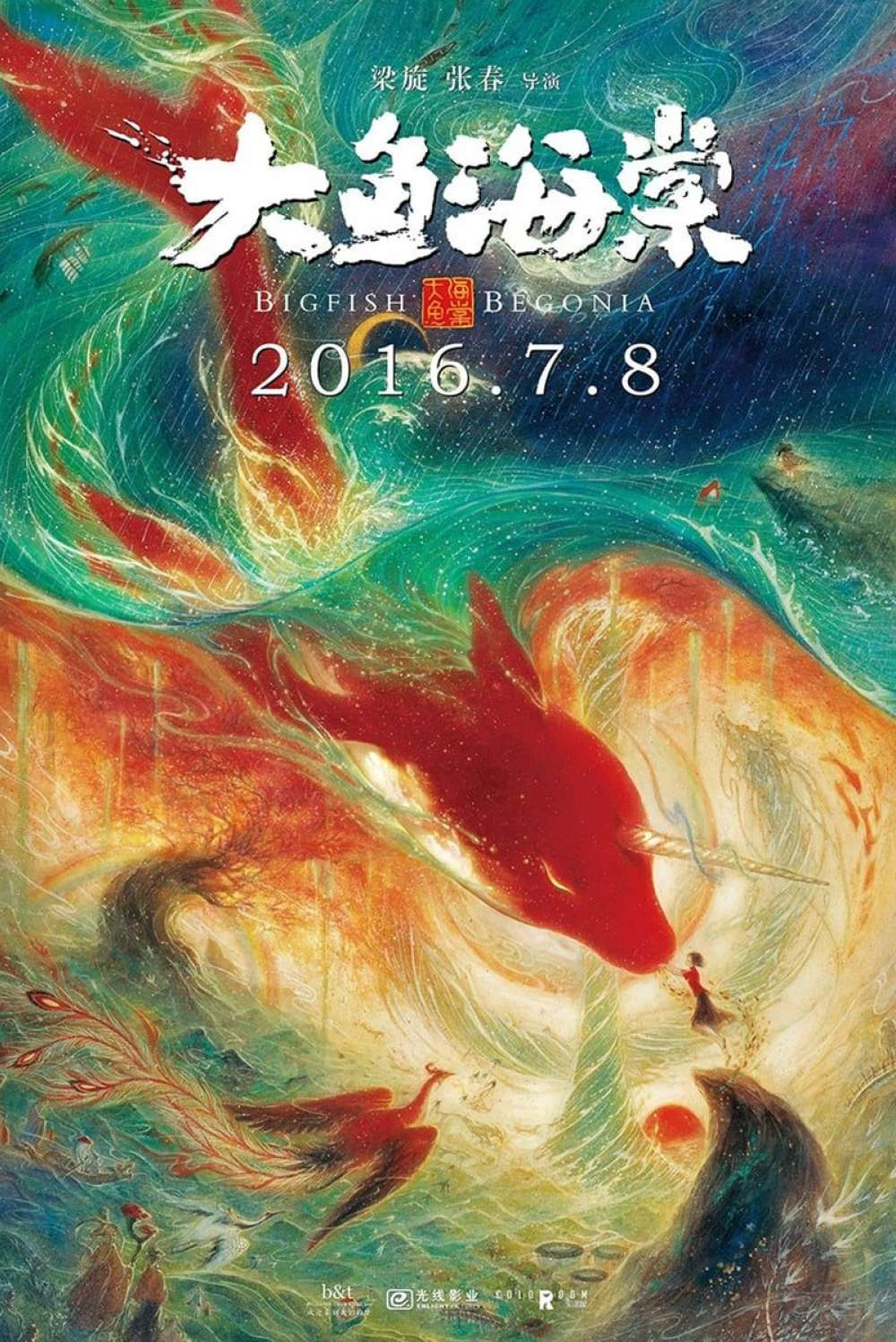 Big Fish and Begonia Poster by Huang Hai