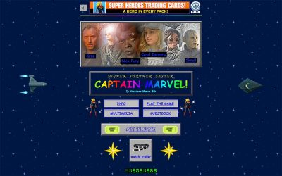 The Captain Marvel Website Is as '90s as a Website Can Be