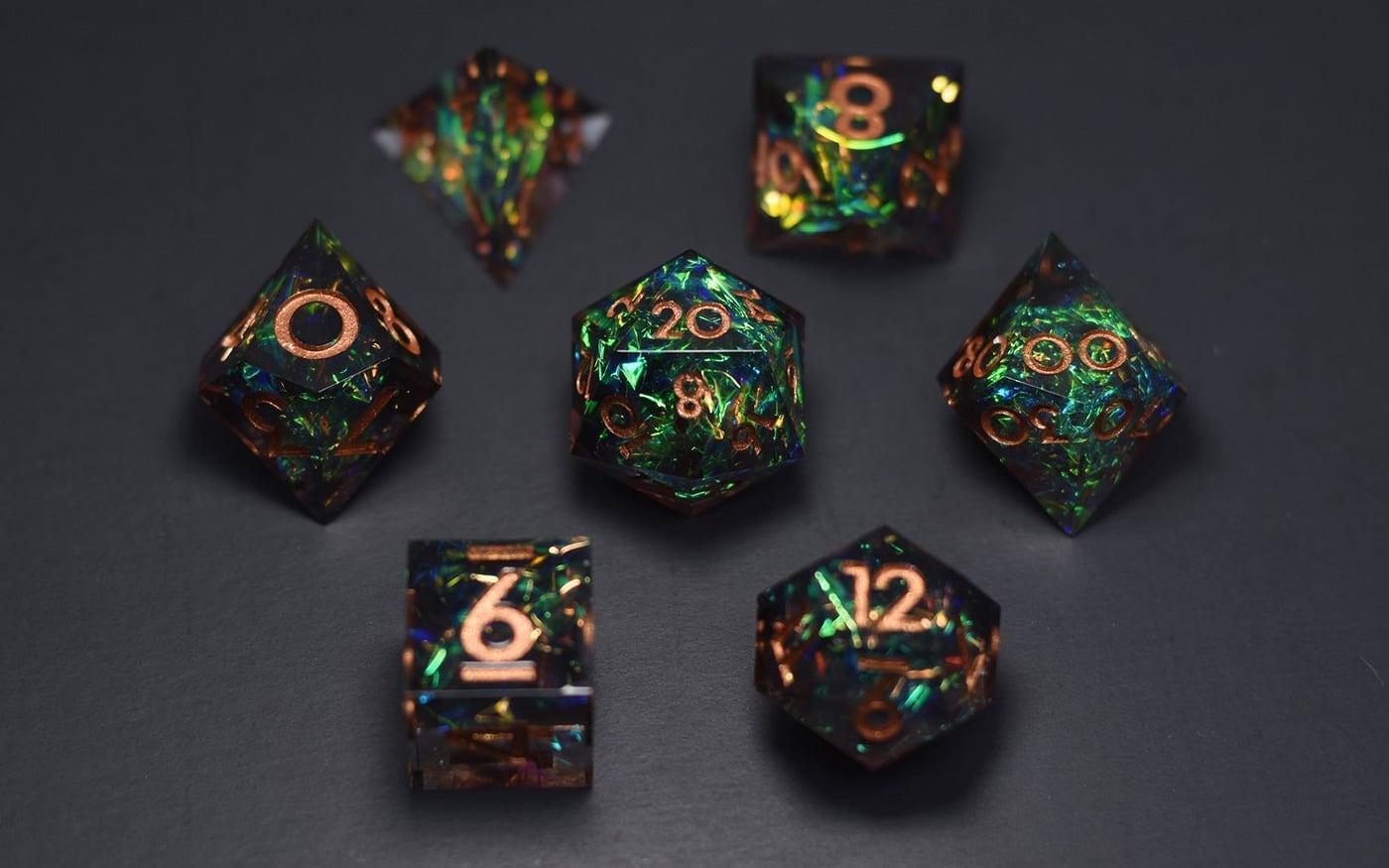 Dispel Dice Black Emerald