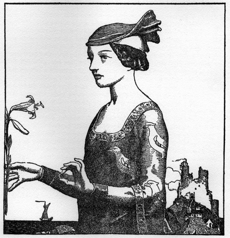 Howard Pyle Lady Yvette